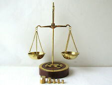 Vintage Bronze Apothecary Scale Balance With Weights F