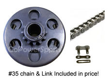 "Gokart parts Clutch 3/4"" bore 12 tooth, w/ 3' #35 chain"
