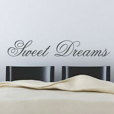 Sweet Dreams Wall Quotes decals stickers decors Vinyl art bed room kids nursery