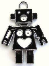 10 Cute Robot Enamel Bracelet Charm/Bead/Pandent/Beading/Cartoon/Baby/Kids EK27