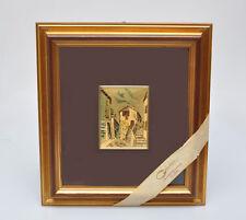 Serigrafia del 1980 circa su foglia d'oro, in cornice, perfetta