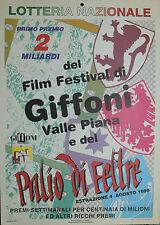 LOTTERIA NAZ.LE 1996: LOC.NA FILM FESTIVAL GIFFONI VALLE PIANA e PALIO DI FELTRE