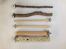 Wood Perches for Pet Birds - Natural wood, dowel, cactus.