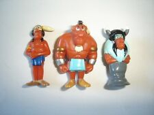 ASTERIX IN AMERICA 3 INDIANS 1997 KINDER SURPRISE FIGURES SET -  COLLECTIBLES