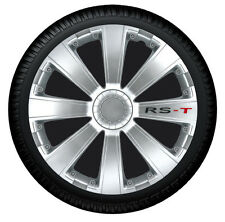 Tapacubos tapacubos RST plata 15 pulgadas Cubierta de la rueda