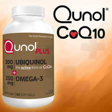 Qunol Plus Heart Support Ubiquinol 200 mg CoQ10 with Vitamin E, 90 Softgels NEW