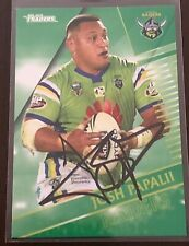 JOSH PAPALII CANBERRA RAIDERS 2018 TLA TRADERS NRL SIGNED CARD