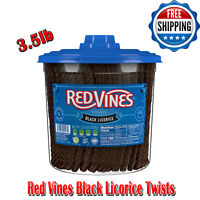 Red Vines Black Licorice Twists 3.5lb Jar, Sweets, No Artificial Colors, Non-GMO