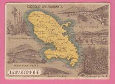 Chromo Chocolat des Gourmets n° 38 - Colonie de la MARTINIQUE