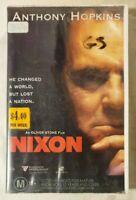 Nixon VHS 1995 Epic/Drama Oliver Stone Anthony Hopkins Roadshow (Ex-Rental)