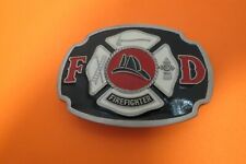 "Buckle Bakery Mens Pewter Fire Fighter Belt Buckle 3""L x 2 1/4""High"