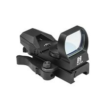 New NCStar D4BQ Red Dot 4 Reticle Reflex Sight Site Optic BLACK QR Weaver Mount