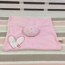 Adams Little Bundle Pink Cat Comforter Blanket Blankie Doudou Heart & Flower