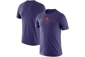 Men's Clemson Tigers Football Nike Icon Word Performance Shirt 2XL XXL NWT