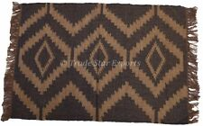 Kilim Carpet Rug Runner Vintage Yoga Mat 2X3 Feet Rug Oriental Floor Mat Throw