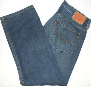 34x30 Levi Strauss 569 Loose Straight Blue Jeans 100% Cotton Mens Denim Red Tab
