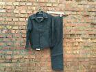 Moleskin Work Suit / Jacket and Pants / Blue or Black Vintage USSR