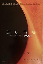 "DUNE 13.5""x20"" Original Promo Movie Poster 2021  Timothee Chalamet IMAX"