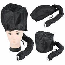 Hair Drying Styling Soft Cap Bonnet Hood Hat Blow Hair Dryer Attachment - Black