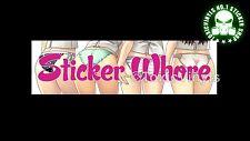 STICKER WHORE slap CAR STICKER jdm drift jap DUB STANCE car sticker decal
