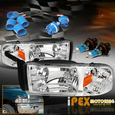 "Pair For 1997-2001 Dodge RAM ""1500 SPORT"" Chrome Headlights With Corner Lights"