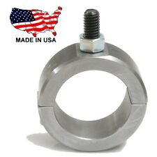 "1 -Steel 2 Bolt Universal Roll Bar Tubing Clamp 1.50"" w 3/8"" Blind Mounting Stud"