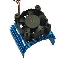 1:10 RC Model Car Alloy Heat Sink for 540 550 Motor DC 5V Cooling Fan Blue NEW