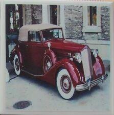 Handmade Stone Ceramic Tile Marble Drink Coaster -Set of 4-Classic Automobile 2D