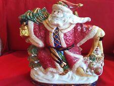 Fitz and Floyd Christmas pitcher Santa Omnibus 2.25 quarts 1994 bag of toys