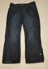 Old Navy Womens The Flirt Lightweight Denim Cropped Capris Jeans Roll Up Size 4