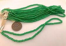 Vintage 3mm Translucent Green Glass Beads Japan 100