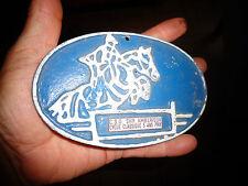 Ancienne plaque Saut à Cheval Hippisme en Alluminium