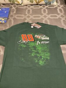 New With Tags Vintage NASCAR Dale Earnhardt Jr Double Sided Amp Energy TShirt XL