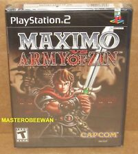 Maximo vs Army of Zin (PlayStation 2, 2004) PS2 New Sealed Black Label 1st Print