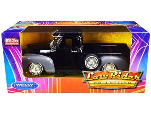 1/24 Welly 1953 Chevrolet 3100 Pickup Truck Diecast LOW RIDER Black Grey 22087