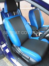 TO FIT A VOLKSWAGEN GOLF 4, CAR SEAT COVERS, BLACK/NEON BLUE LEATHERETTE