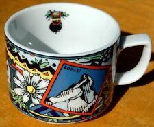 Tasses et soucoupes de table campagnes en porcelaine