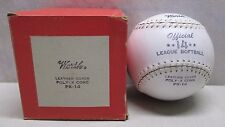 Vintage Worth Official 14 League Softball Soft Ball PX-14 Leather Cover in Box