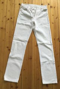 Levi's Levis Jeans 501 W28 L34 geknöpft weiß