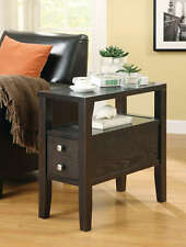 Casual Cappuccino Finish Storage Chairside Accent End Table by Coaster 900992