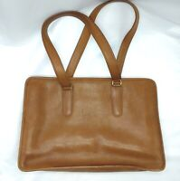 "Vintage Coach Brown Leather Tote Laptop Bag Handbag 10 x 15 x 3.5"" No 209-2110"