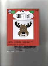 Nicole Plastic Canvas Small Kit ~  Reindeer  ~ New ~ Bright Minds