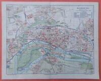 MAGDEBURG Sudenburg Wilhelmstadt Buckau Stadtplan von 1906