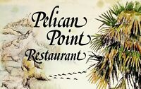 Vintage JOE PINCKNEY Art Menu PELICAN POINT RESTAURANT Hilton Head Island S.C.
