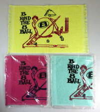 BEHIND THE 8 BALL 1970s 3 GAG CRYING TOWELS POOL BILLIARDS BOWLING GOLF NOS #917