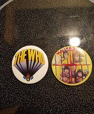 THE WHO BADGES PIN BUTTON