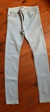 Topman Pale Blue Spray On Skinny Jeans Waist 30