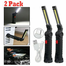 Usb Rechargeable Led Work Light Mechanic Flashlight Lamp Bar Camping Cob Torch