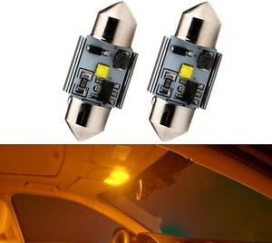 LED Light Canbus Error Free DE3021 3W Amber Two Bulbs Interior Map  Replacement