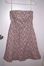 Gap Size 8 Womens Stretch Strapless Floral Dress